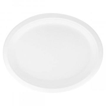 Disposable paper food service platter