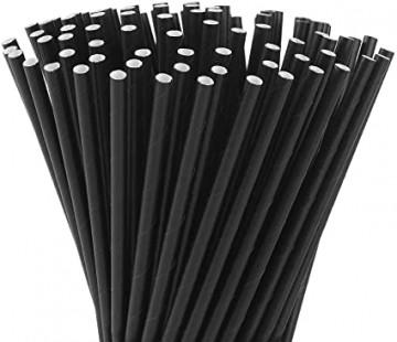 Paper drinking straw black