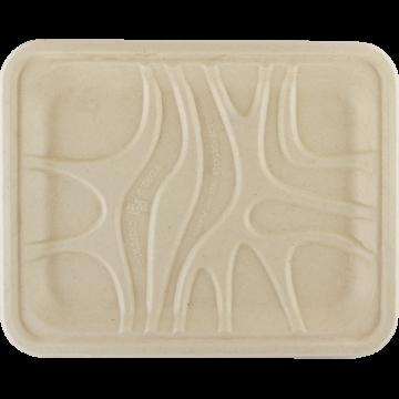 Eco-friendly organic tray 21x12x1.5 cm