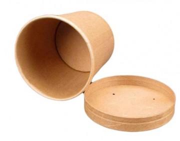 Round paper container 500 ml, kraft