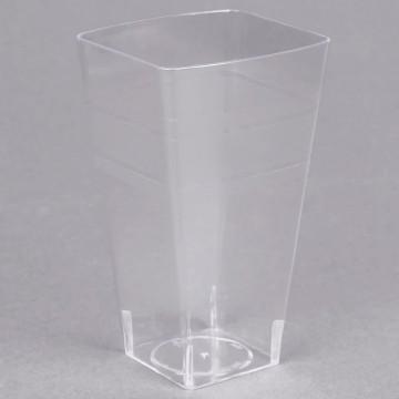 Kristāldzidrās plastmasas glāzes