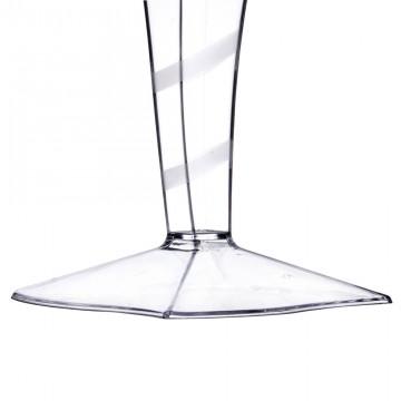 Vienreizlietojamās vīna glāzes kristaldzidras