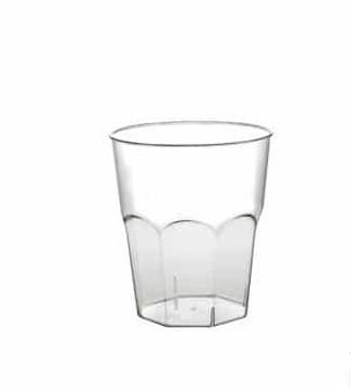 Disposable plastic cocktail glasses 250 ml, PS