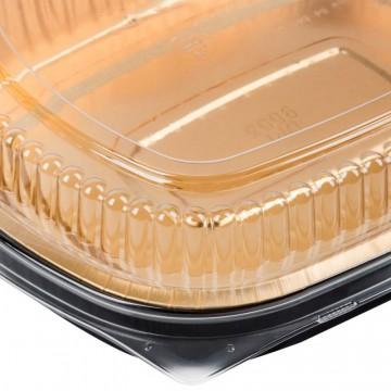 Deep Gold aluminum pan for food storage and transportation
