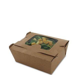 Small paper salad box with window 13 x 10 x 7 cm