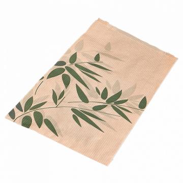 Croissant bags 'feel green' 14+7 x 22 cm, kraft